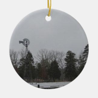 Windmühle im Park Keramik Ornament