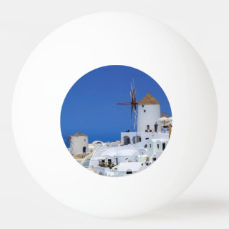 Windmühle in Oia, Santorini, Griechenland Ping-Pong Ball