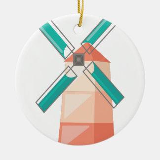 Windmühle Keramik Ornament