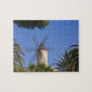 Windmühle, Palma, Mallorca, Spanien Jigsaw Puzzles