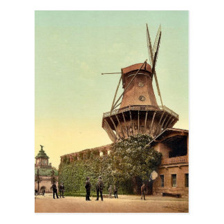 Windmühle, Potsdam, Berlin, Deutschland seltenes Postkarte