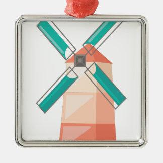 Windmühle Silbernes Ornament