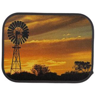 Windmühle und Sonnenuntergang, William-Nebenfluss, Autofußmatte