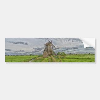Windmühlen des Kinderdijk Welterbstandorts Autoaufkleber