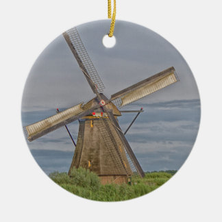 Windmühlen des Kinderdijk Welterbstandorts Keramik Ornament