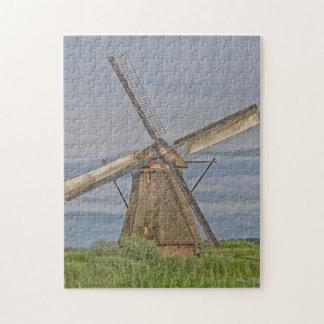 Windmühlen des Kinderdijk Welterbstandorts Puzzle