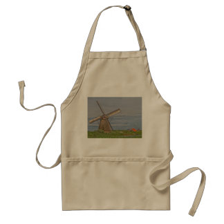 Windmühlen des Kinderdijk Welterbstandorts Schürze