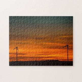 Windmühlen im Abstand Puzzle