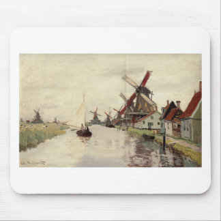 Windmühlen in Holland durch Claude Monet Mousepads