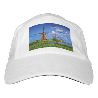 Windmühlen in Kinderdijk, Holland, die Niederlande Headsweats Kappe