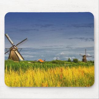 Windmühlen in Kinderdijk, Holland, die Niederlande Mousepad
