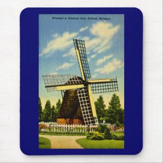 Windmühlen-Park Holland, Michigan Vintag Mousepad