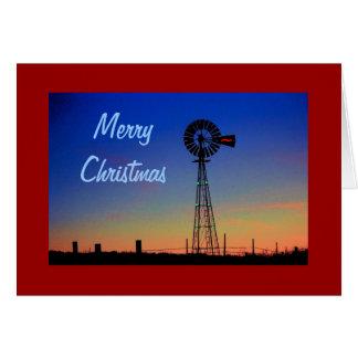 Windmühlen-Weihnachtskarte Grußkarte