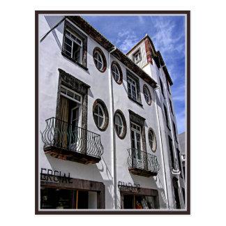 Windows u. Balkon: Funchal, Portugal Postkarte