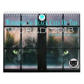 Windows zu den schwarzen Katzen des Kalenders der Abreißkalender