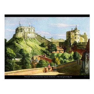 Windsor Schloss-Aquarell-Malerei-Postkarte! Postkarte