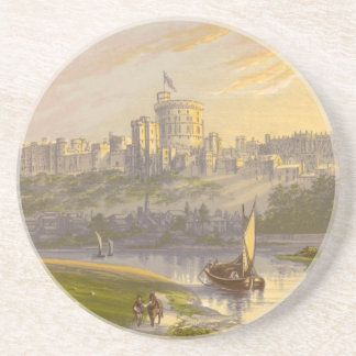 Windsor Schloss, der königliche Wohnsitz Sandstein Untersetzer