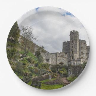 Windsor Schloss in England Pappteller