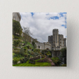 Windsor Schloss in England Quadratischer Button 5,1 Cm