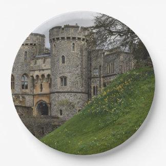Windsor Schloss in Windsor England Pappteller