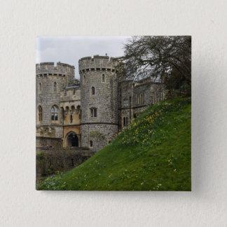 Windsor Schloss in Windsor England Quadratischer Button 5,1 Cm