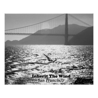Windsurfer auf San Francisco Bay Poster