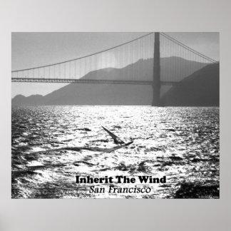 Windsurfer auf San Francisco Bay Poster