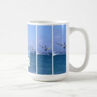 Windsurfer in der Luft-Tasse Tasse