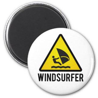 Windsurfer Runder Magnet 5,1 Cm