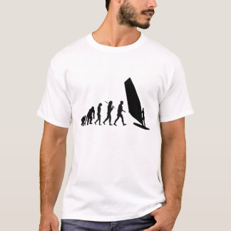 Windsurfers-Windsurfing Evolution Sailboard Wind T-Shirt