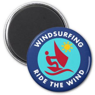 Windsurfing Fahrt der Wind Runder Magnet 5,7 Cm
