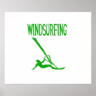 windsurfing grüner Sport copy.png des Textes v3 Poster