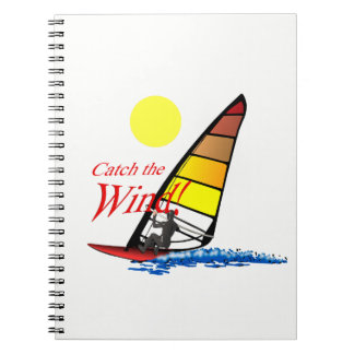 Windsurfing Spiral Notizblock