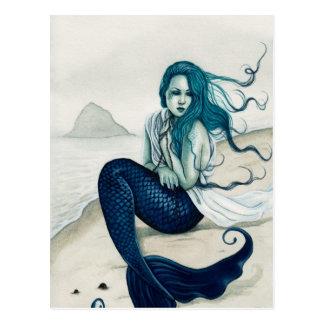 Windswept Meerjungfrau-Postkarte Postkarten