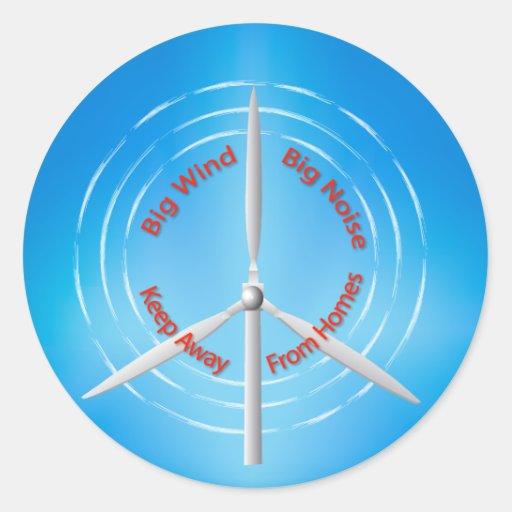 Windturbine Protest Aufkleber