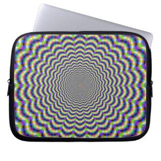 Windungs-Schnitt kreist Laptop-Hülse ein Laptopschutzhülle