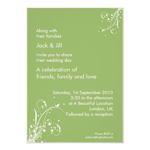 Windwhisp (Frühlingsblatt) 12x18 Individuelle Einladungskarten