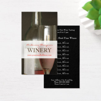 Winery Vineyard Wine Making Business Card Visitenkarte