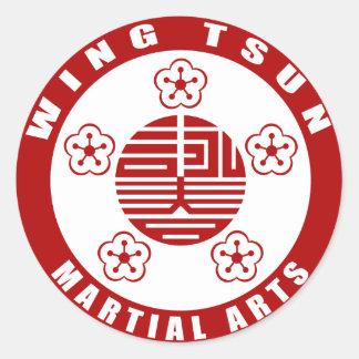 WING TSUN –  MARTIAL ARTS RUNDER AUFKLEBER