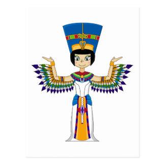 Winged ägyptische Postkarte der Königin-Nefertiti