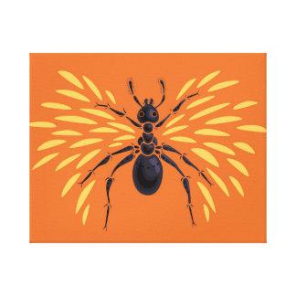 Winged Ameisen-heftig Orange Leinwanddruck