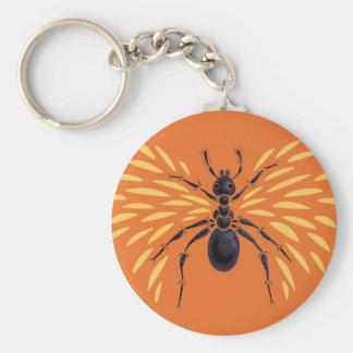 Winged Ameisen-Insekten-Liebhaber-heftig Orange Schlüsselanhänger