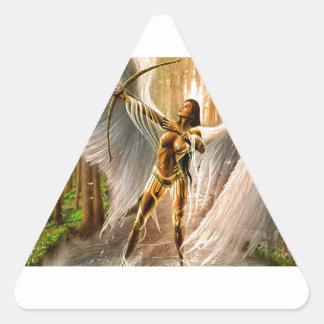 Winged Bogenschütze Dreieckiger Aufkleber