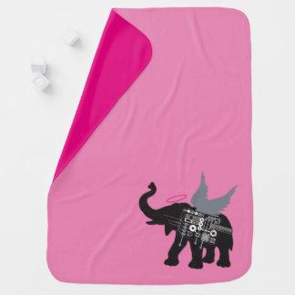 Winged Elefant-Baby-Decke Puckdecke