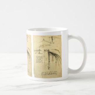 Winged Flugmaschine-Skizze durch Leonardo da Vinci Kaffeetasse
