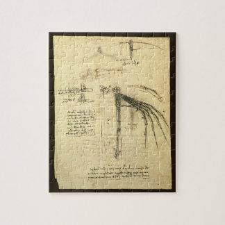 Winged Flugmaschine-Skizze durch Leonardo da Vinci Puzzle