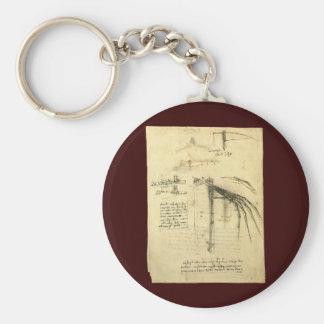 Winged Flugmaschine-Skizze durch Leonardo da Vinci Schlüsselanhänger