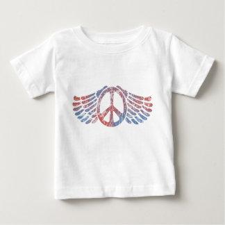 Winged Friedenssymbol Baby T-shirt