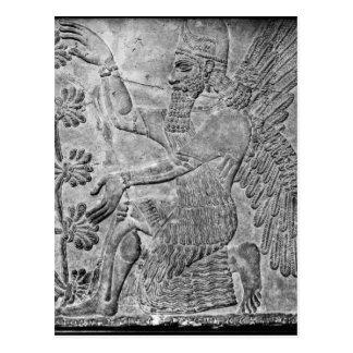 Winged Geister, die den heiligen Baum anbeten Postkarte