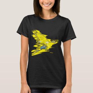 Winged gelber Anmerkungs-T - Shirt